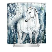 Blue Symphony Shower Curtain
