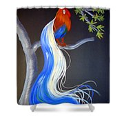 Blue Tail Fantasy Shower Curtain