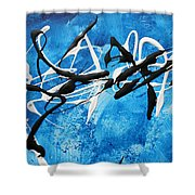 Blue Texture By Madart Shower Curtain