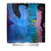 Blue Thoughts Shower Curtain