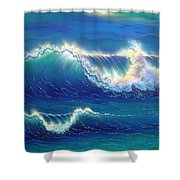 Blue Thunder Shower Curtain