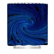 Blue Thunder Shower Curtain