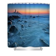 Blue Tide Shower Curtain