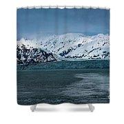 Blue Tidewater Glacier  Shower Curtain