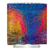 Blue Tornado 3 Shower Curtain