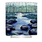 Blue Tranquility Shower Curtain