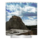 Blue Uxmal Shower Curtain