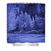 Blue Vail Shower Curtain