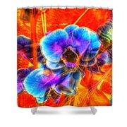 Blue Velvet Orchids Shower Curtain