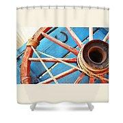 Blue Wagon 2 Shower Curtain