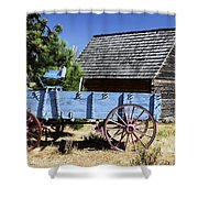 Blue Wagon Shower Curtain