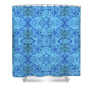 Blue Water Batik Tiled Shower Curtain