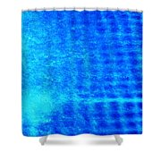 Blue Water Grid Abstract Shower Curtain