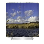 Blue Waters Of The Marsh Shower Curtain