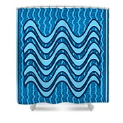 Blue Wave Over Wave Pattern On Gifts Shirts Pillows Tote Bags Phone Cases Shower Curtains Duvet Cove Shower Curtain