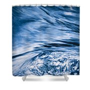 Blue Wave Water Shower Curtain