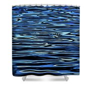 Blue Waves Shower Curtain