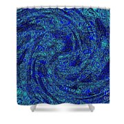 Blue Whirl Wind In The Sky Shower Curtain