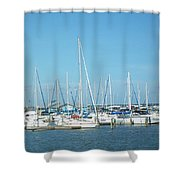Blue White And Blue Shower Curtain