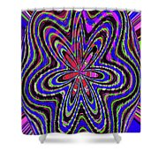 Blue White And Red Abstract #2944e2c Shower Curtain