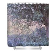 Blue Willow. Monet Style Shower Curtain