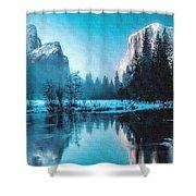 Blue Winter Fantasy. L B Shower Curtain