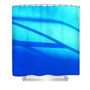 Blue Winter Shadows  Shower Curtain