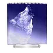 Blue Wolf    -007 Shower Curtain