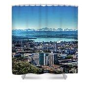 Blue Zurich Shower Curtain