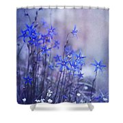 Bluebell Heaven Shower Curtain by Priska Wettstein