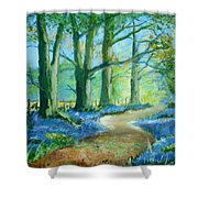 Bluebell Walk Shower Curtain