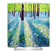 Bluebells In The Woodlands Shower Curtain