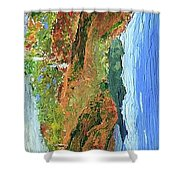Blueberry Mountain Shower Curtain