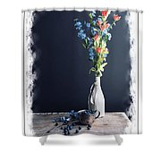 Blueberry Table Shower Curtain