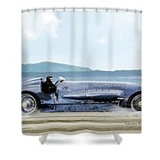 Bluebird II, 1928, World Record Land Speed Record At Pendine Sands, Wales, 178.88 Mph Shower Curtain
