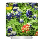 Bluebonnet Bouquet Shower Curtain