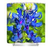 Bluebonnet Fantasy Shower Curtain