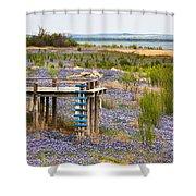Bluebonnet Lakeshore Shower Curtain
