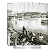 Bluefin Tuna At Barnstable Harbor Shower Curtain