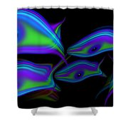 Bluefish2 Shower Curtain