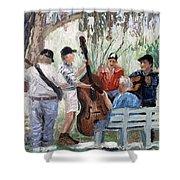 Bluegrass In The Park Shower Curtain