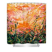 Bluegrass Sunrise - Desert A-left Shower Curtain