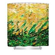 Bluegrass Sunrise - Olive B-right Shower Curtain