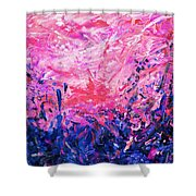 Bluegrass Sunrise - Violet A-left Shower Curtain