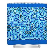 Bluelines_03 Shower Curtain