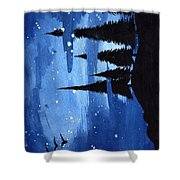 Bluenight Shower Curtain