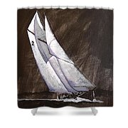 Bluenose At Night Coming Shower Curtain