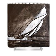 Bluenose At Night Going Shower Curtain