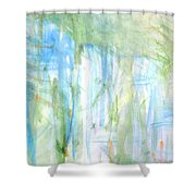 Blues And Greens 2 Shower Curtain
