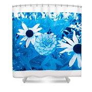 Blue's Art Shower Curtain